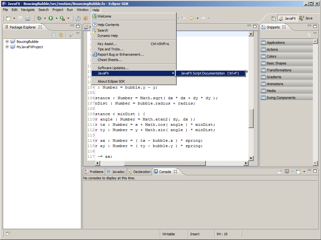 Java FX for Eclipse
